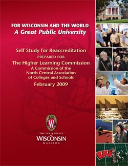 Cover of the final self study report for reaccreditation